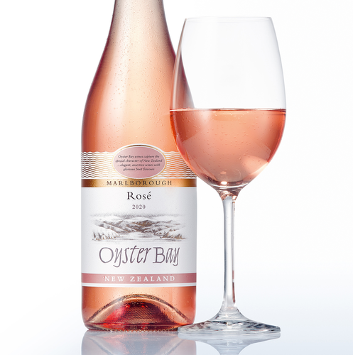 2020 oyster bay marlborough rose bottle glass hero