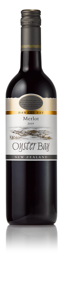 2019 oyster bay hawke's bay merlot wine bottle image